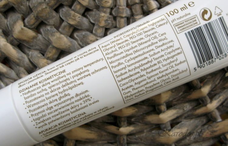 Ziaja, Krem do rąk z bio olejkiem arganowym