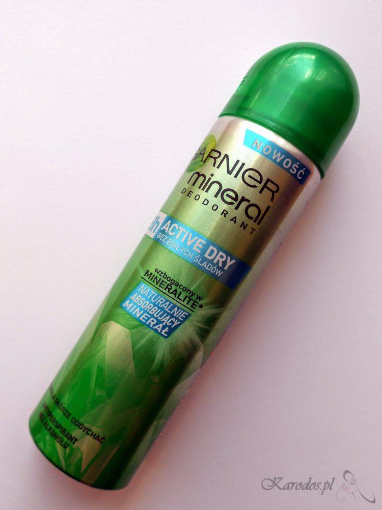 Garnier, Mineral Deodorant 48h Active Dry /Bez białych śladów/ - Dezodorant mineralny w sprayu