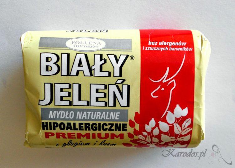 Pollena Ostrzeszów, Biały Jeleń Premium z głogiem i lnem - naturalne mydło hypoalergiczne