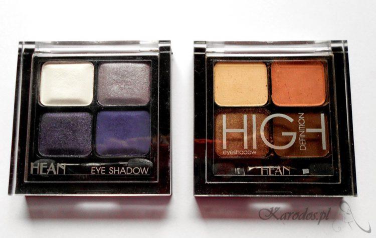 Hean, High Deffinition Eyeshadow - Poczwórne cienie do powiek (nr 401 i nr 405)