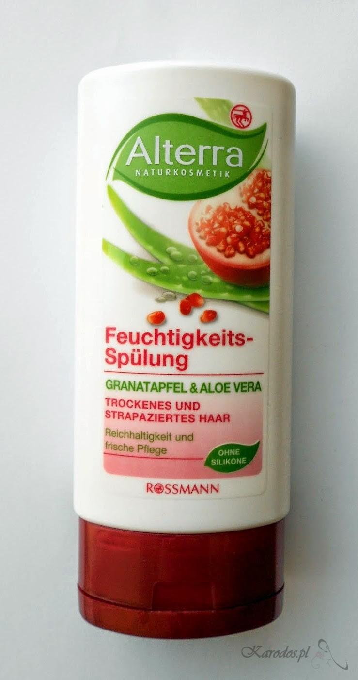 Rossmann, Alterra, Nawilżająca odżywka 'Granat i Aloes' do włosów suchych i zniszczonych