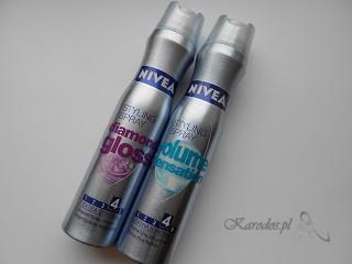 Nivea Styling Spray - Lakiery do włosów diamod gloss i volume sensation