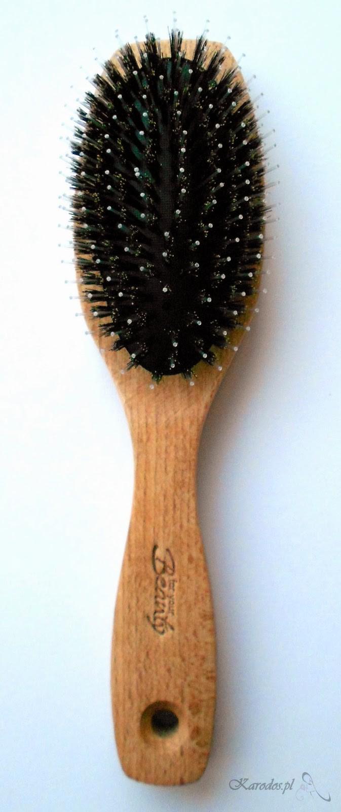 Rossmann, For Your Beauty, Glanz Styling - Szczotka do włosów z naturalnego włosia
