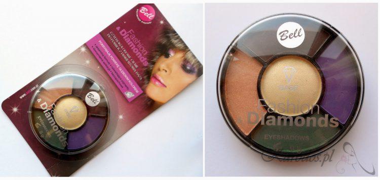 Bell, Fashion&Diamonds Eyeshadows - czterokolorowe cienie do powiek z diamentową bazą (02) z Biedronki