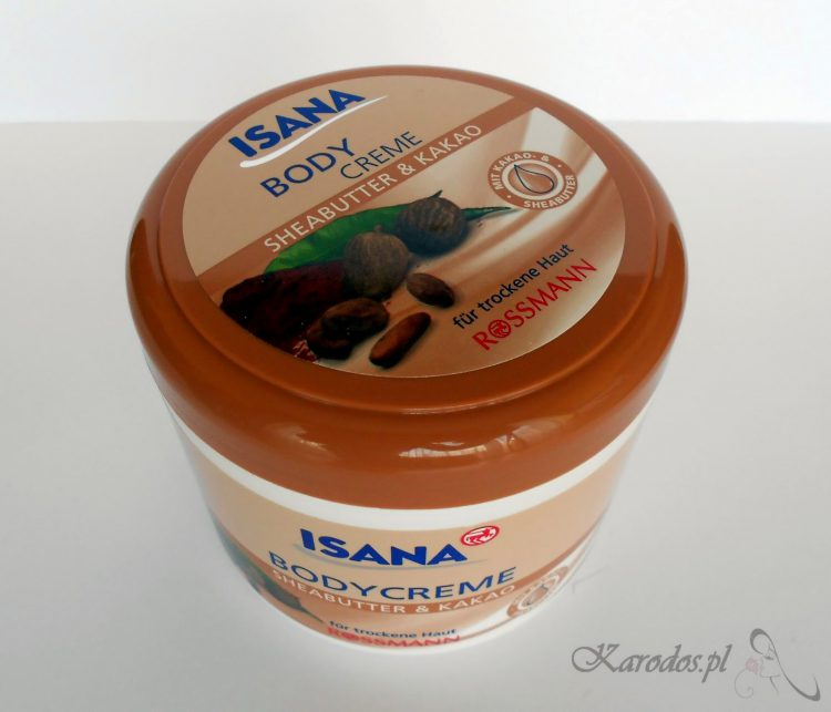 Rossmann, Isana, Body Creme, Sheabutter & Kakao - Krem do ciała z masłem shea i kakao