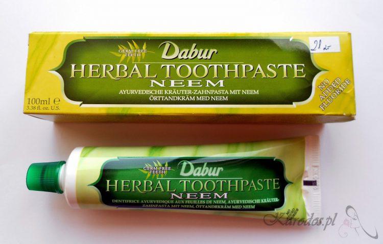 Dabur, Ayurvedyjska ziołowa pasta do zębów z neem (miodlą indyjską) bez fluoru