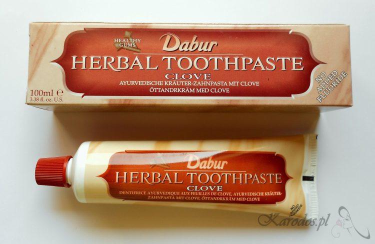 Dabur, Herbal Clove Toothpaste, Ayurvedyjska ziołowa pasta do zębów z wyciągiem z goździka (bez fluoru)