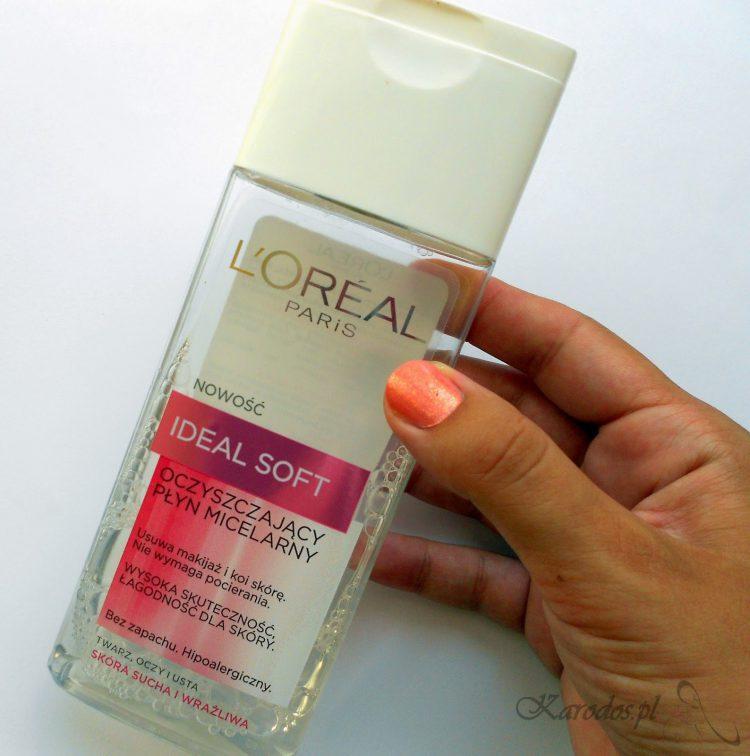 L'Oreal, Ideal Soft, Oczyszczający płyn micelarny do skóry suchej i wrażliwej
