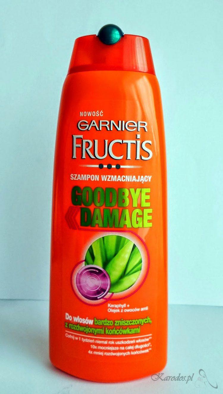 Garnier Fructis, Goodbye Damage – Szampon wzmacniający do włosów zniszczonych z rozdwojonymi końcówkami