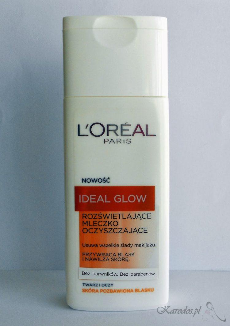 L'Oreal, Ideal Glow, Rozświetlające mleczko oczyszczające do skóry pozbawionej blasku