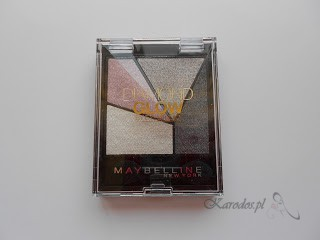Maybelline, Diamond Glow By EyeStudio – Poczwórne cienie do powiek (04 Grey Pink Drama)