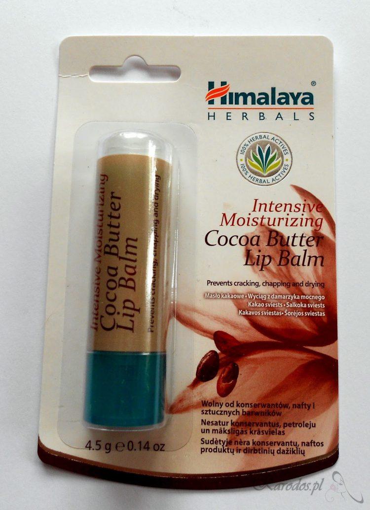 Himalaya Herbals, Cocoa Butter Lip Balm – Balsam do ust intensywnie nawilżający z Masłem Kakaowym