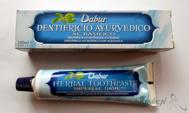 Dabur, Herbal Toothpaste Imperial Basil – Ajurwedyjska ziołowa pasta do zębów z bazylią (tulsi) bez fluoru