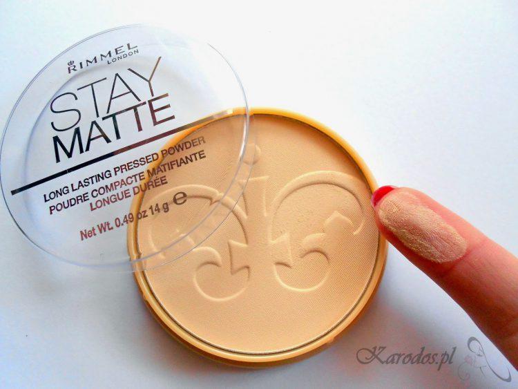 Rimmel, Stay Matte – Puder prasowany (001 Transparent)