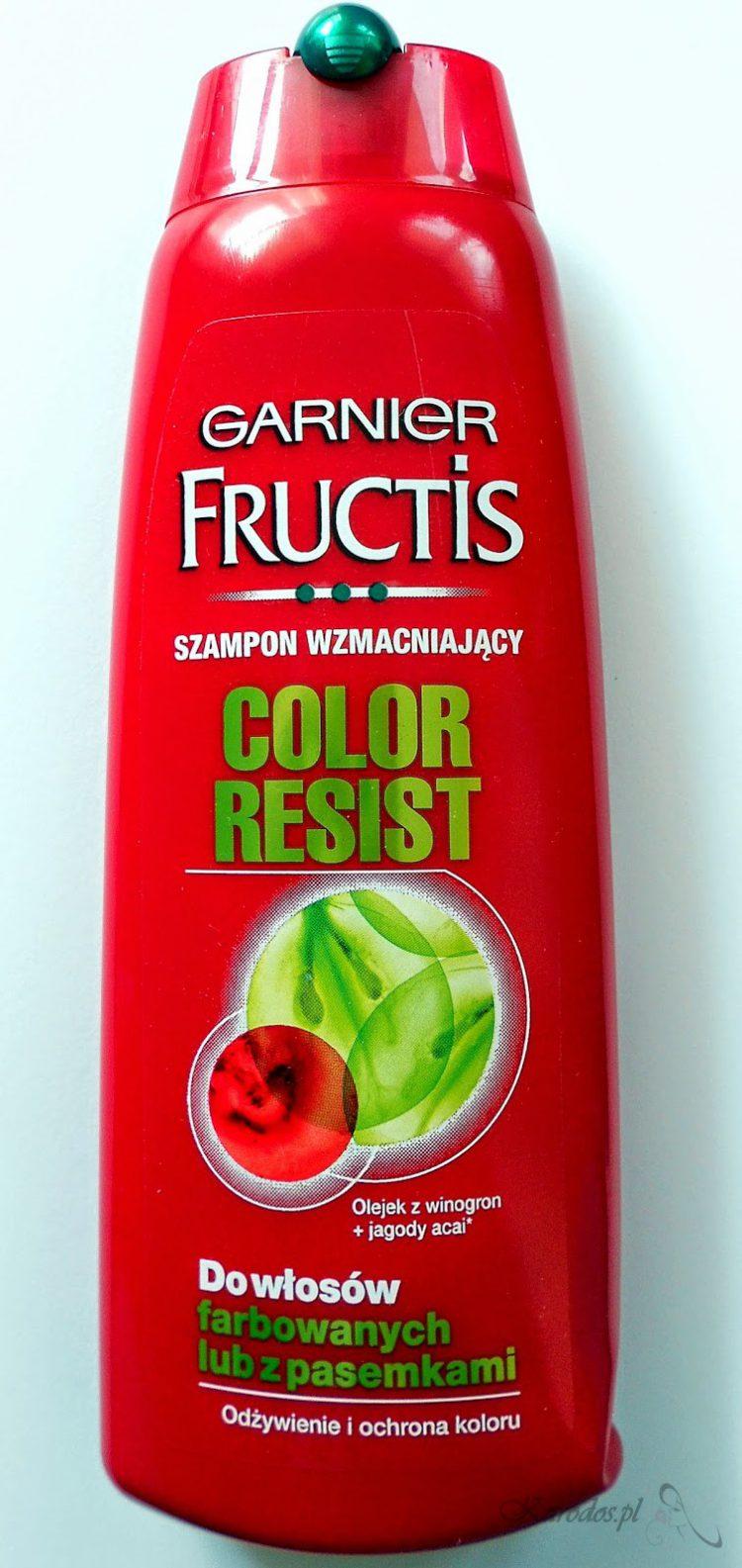 Garnier, Fructis Color Resist – Szampon wzmacniający do włosów farbowanych