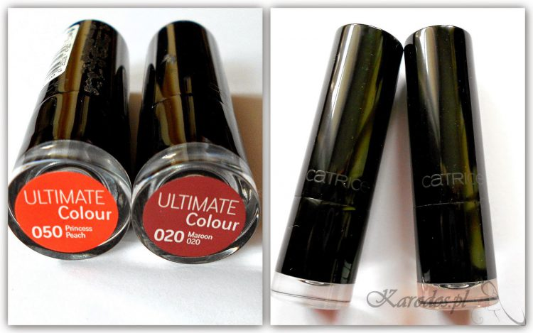 Catrice, Ultimate Colour – Pomadka do ust (nr 020, 050)