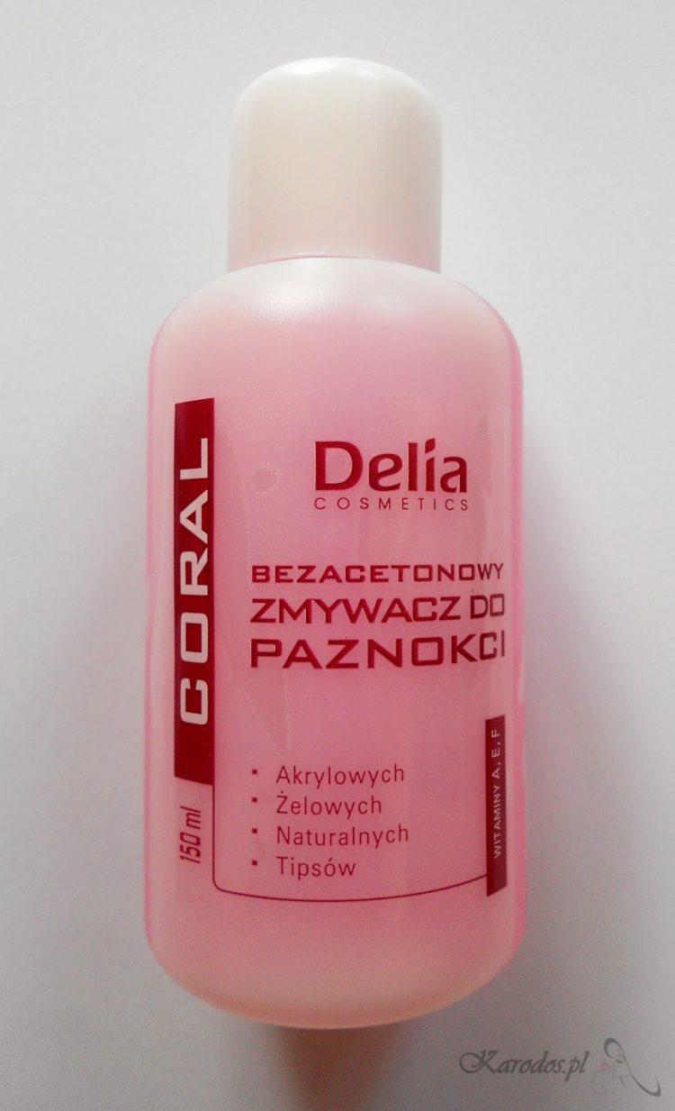 Delia, Coral, Bezacetonowy zmywacz do paznokci o zapachu różanym