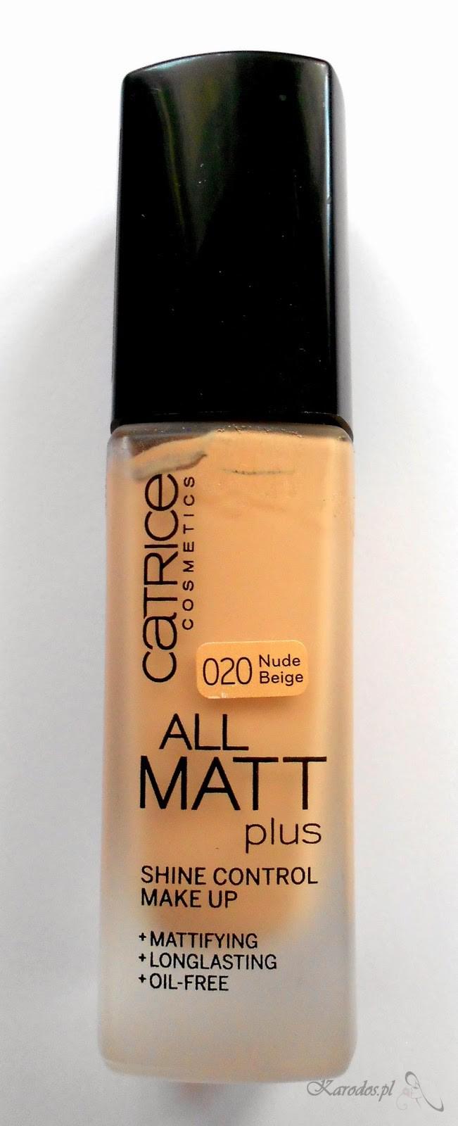 Catrice, All Matt Plus – Podkład matujący (020 Nude Beige)
