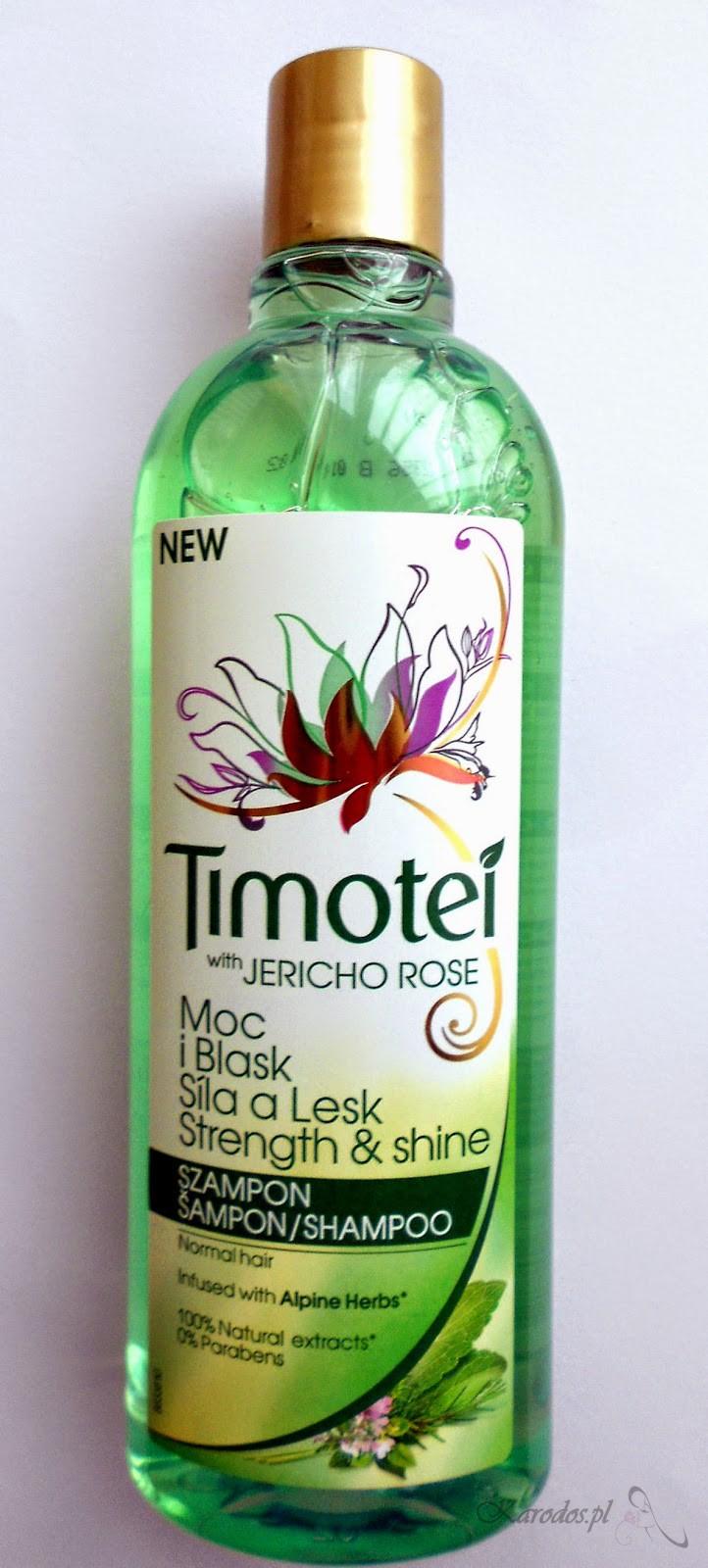 Unilever, Timotei with Jericho Rose, Szampon do włosów 'Moc i Blask' (włosy normalne)