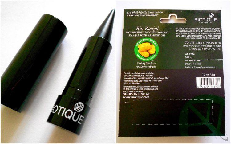 Biotique, Bio Kajal do oczu odżywczy z olejkiem migdałowym