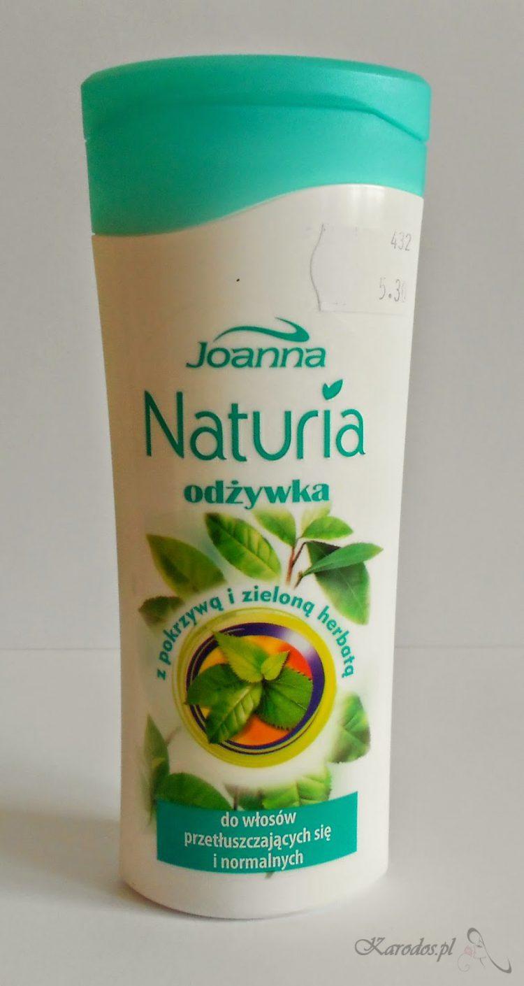 Joanna, Naturia, Odżywka z pokrzywą i zieloną herbatą do włosów przetłuszczających się i normalnych