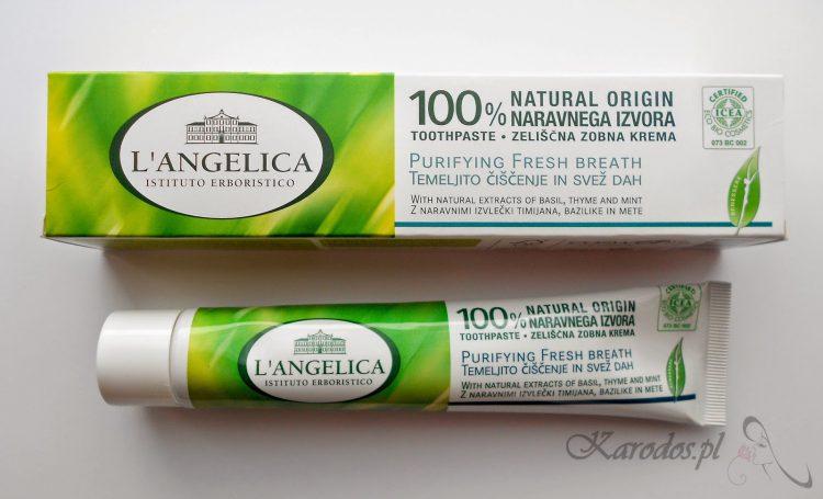 L'Angelica, Świeży oddech – 100% naturalna pasta do zębów (bez fluoru, SLS i sacharyny)
