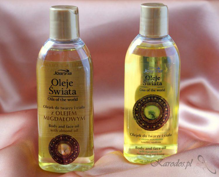 Joanna, Oleje Świata, Olejki do twarzy i ciała z olejem z migdałowym oraz makadamia