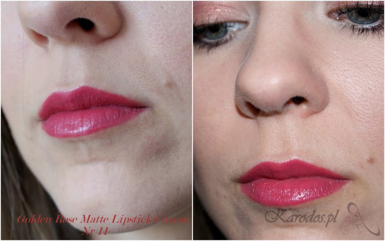 Golden Rose, Matte Crayon Lipstick, Matowa pomadka w kredce do ust (nr 09,11)
