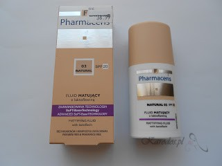 Pharmaceris F, Fluid matujący z laktoflawiną SPF 20 (NATURAL nr 02)