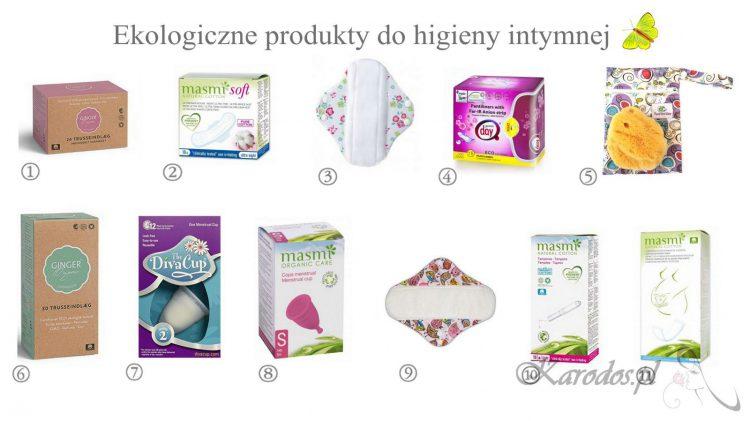 Kopia ekologiczne produkty do higieny intymnej