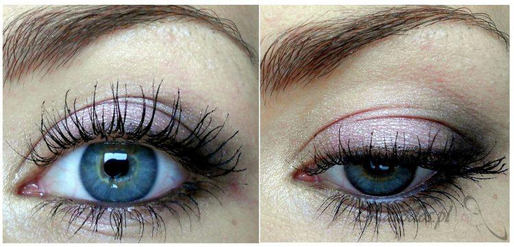 Makijaż liliowo-fioletowy (dzienny)