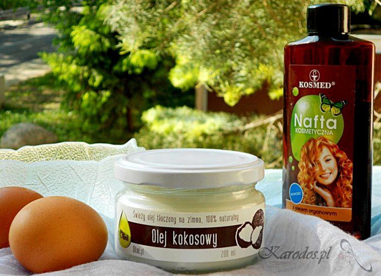 Wzmacniająca maseczka do włosów z olejem kokosowym