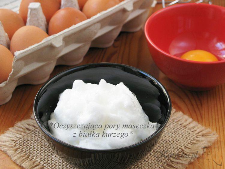 Oczyszczająca pory maseczka z białka kurzego