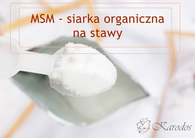 MSM - siarka organiczna na stawy