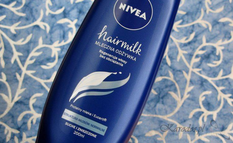 Nivea Hairmilk, Mleczna odżywka do włosów normalnych