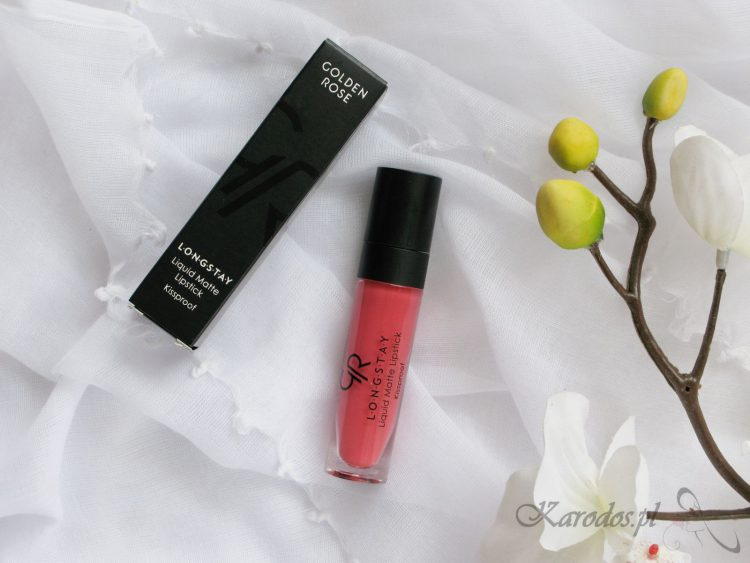 Pomadka Golden Rose Longstay Liquid Matte – opinia