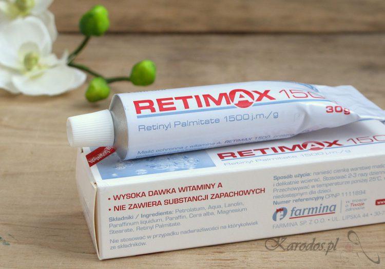 Retimax 1500 - najlepsza maść z witaminą A
