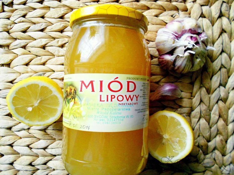 Syrop z czosnku miodu i cytryny