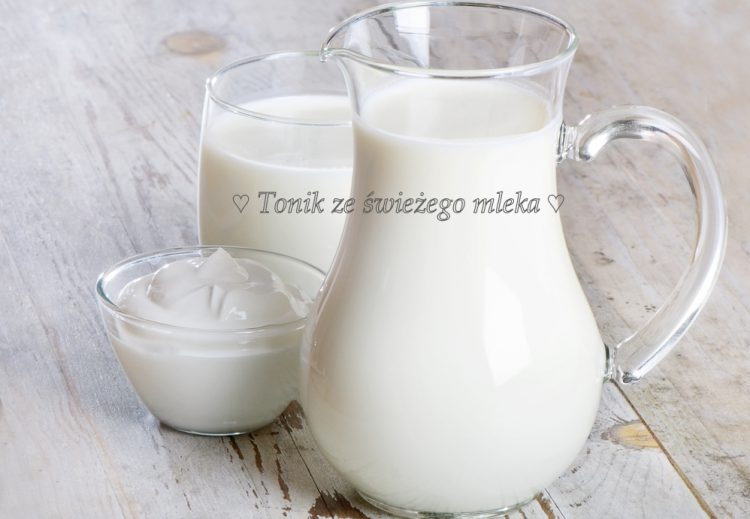 Tonik do twarzy ze świeżego mleka